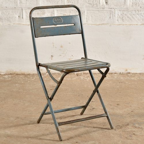 Original folding metal chair with alternative folding action