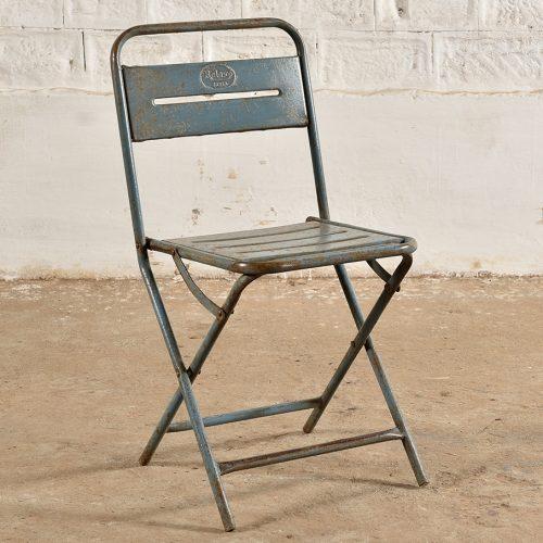 Original folding metal chair with alternative folding action