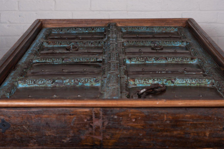 TS00172c HAMESHA Old Door Dining Table